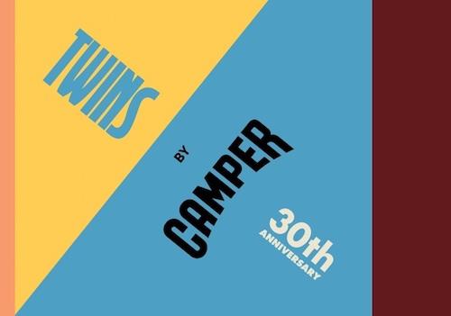 カンペールの非対称のおしゃれ靴<br>TWINS誕生30周年記念キャンペーン